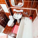 Квартира на сутки от 58$ на бульваре Мулявина в Минске. Ванная комната.