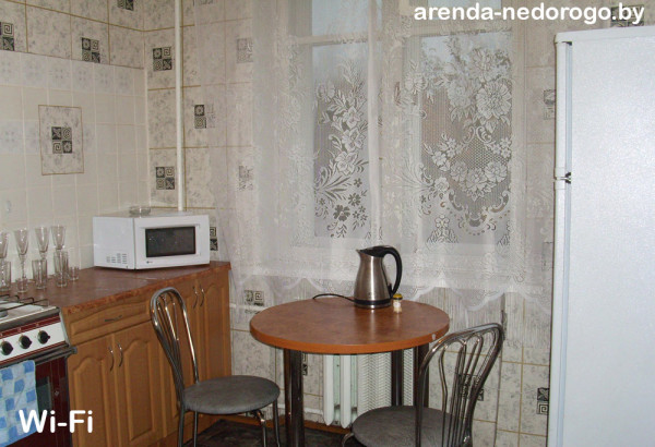 Кухня в съемной 1-комнатной квартире на ул. К. Маркса, 20. Снять квартиру посуточно от 31$