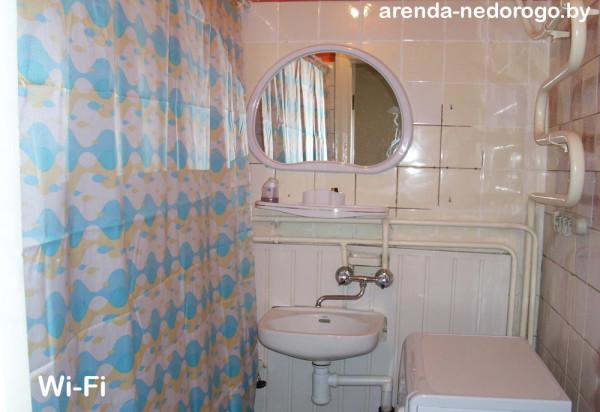 Ванная комната в однокомнатной квартире на сутки в Минске, ул. К. Маркса, 20 - Твой Остров