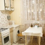 Кухня в однокомнатной квартире по ул. Ленина, 4 в центре Минска по цене от 37 у.е. в сутки.