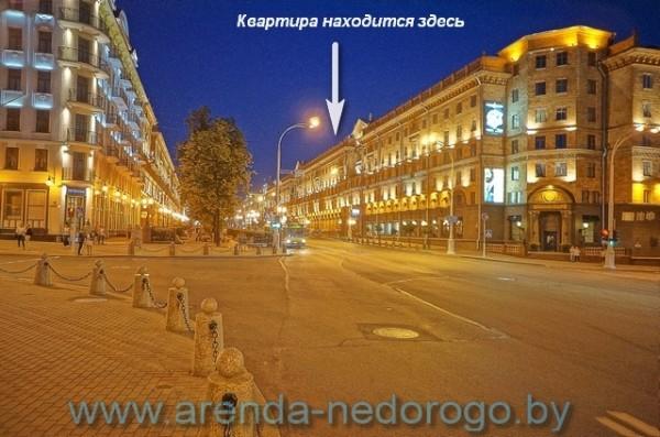 Проспект Победителей, площадь Свободы, центр Минска - фото arenda-nedorogo.by
